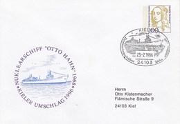 """PU 350 C2/7b Nuklearschiff """"Otto Hahn"""" 1968 - Kieler Umschlag 1996, Kiel 1 - BRD"""