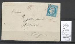 France - GC 77 AMBAZAC - EN ROUGE - Rarissime - SIGNE CALVES - PROPOSE A 1  EURO - Postmark Collection (Covers)