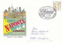 PU 350 D2 32 NAPOSTA - Nationale Postwertzeichenausstellung Stuttgart 7.-11.Mai Killesberg, Stuttgart 1 - BRD