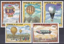 Elfenbeinküste Ivory Coast Cote D'Ivoire 1983 Luftfahrt Aeronautic Montgolfiere BallonsBalloons Luftschiff, Mi. 772-6 ** - Côte D'Ivoire (1960-...)