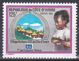Elfenbeinküste Ivory Coast Cote D'Ivoire 1983 Organisationen Wohlfahrt Welfare SOS-Kinderdorf Children, Mi. 766 ** - Côte D'Ivoire (1960-...)