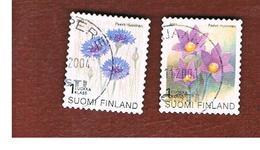 FINLANDIA (FINLAND) -  SG  1637   -    2001 PROVINCIAL PLANTS: COMPLET SET OF 2    -         USED ° - Usados