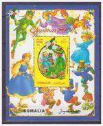 0488 Somalia 2002 Disney Peter Pan Alice In Wonderland Christmas S/S MNH - Disney
