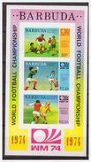 0495 Barbuda 1974 Voetbal Soccer Worldchampionship Final  S/S MNH Imperf - Coppa Del Mondo