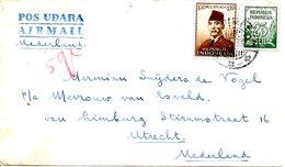 INDONESIE. N°64 De 1953 Sur Enveloppe Ayant Circulé. Président Sukarno. - Indonesia