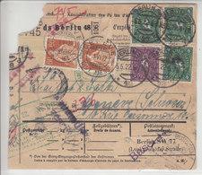 BULLETIN D'EXPEDITION - BERLIN POUR LA SUISSE - MULTIAFFRANCHISSEMENT - + TAXEE SUISSE - EN L'ETAT - Covers & Documents