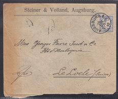 LETTRE DE 1910 POUR LA SUISSE - ( LE LOCLE) - SUPERBE CACHET - V/IMAGE - Bavière