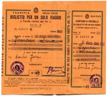 RC 10978 ITALIE 1939 / 1940 BILLET DE TRAIN FIRENZE SIENNA ITALY ITALIA TB - Europe