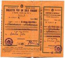 RC 10980 ITALIE 1939 / 1940 BILLET DE TRAIN VENEZIA - MODANE  ITALY ITALIA TB - Europe