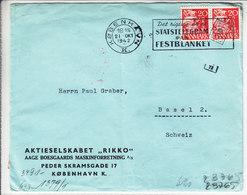 LETTRE CENSUREE DE 1942 POUR LA SUISSE - - 1913-47 (Christian X)