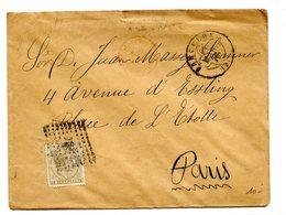 Espagne N°177 Sur Lettre De Barcelone à Paris - Ambulant En Rouge - 1879 - (W1106) - 1875-1882 Royaume: Alphonse XII