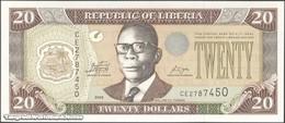 TWN - LIBERIA 28e - 20 Dollars 2009 Prefix CE UNC - Liberia