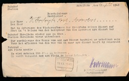 MERELBEKE 10.7.1940 - ER WORDT VERZOCHT HEM ZYN FIETS TE LATEN HOUDEN - OM ZICH NAAR HET WERK TE BEGEVEN - 1939-45