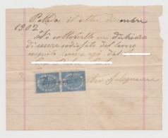 1902 - Dichiarazione Sottocritta Con Due Marche Da Bollo. - Manoscritti