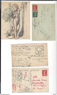 JODELET Charles-Emmanuel ( 1883-1969 ) Dessin Au Fusain Rehaussé Aquarelle Env 14,2 X 10,9 - Joint 3 Cp Même Archive - Dessins