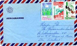 INDONESIE. N°1062 De 1985 Sur Aérogramme Ayant Circulé. Décennies Pour Les Femmes. - Indonesia