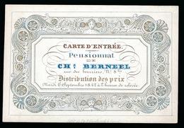 GENT PORSELEINKAART - CARTE D'ENTREE PENSIONNAT CH;BERNEEL  10.5 X 7.5 CM - Gent