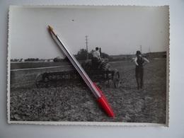 Photo Ancienne Publicité GIBOUIN TRACTEUR AGRICOLE VENDEUVRE LANZ? Canadien Région De NANGIS 77 Agriculture Céréalier - Métiers