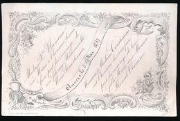 ANVERS 1857 - PORSELEINKAART 16X 10 CM - MARIE CORSTIAENS MET FLORENT VLAMINX - Mariage