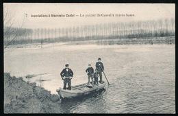 INONDATIONS A MOERZEKE CASTEL - LE POLDER DE CASTEL A MAREE BASSE - Hamme