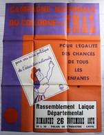 Rare Grande Affiche 1972 école Illustrateur Jean Effel Marianne Colloque Du CNAL Laval Comité National D'action Laïque - Affiches