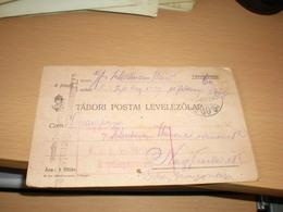 Tabori Postai Levelezolap  1915  Kuk Militarische Uberprungskommission To Nagybecskerek Zrenjanin - Militaria
