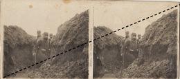 Photo Stéréo WWI Guerre Boyau Tranchée - Guerre, Militaire