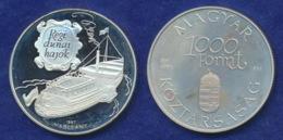 Ungarn 1000 Forint 1995 Raddampfer Ag925 - Ungarn