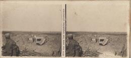 Photo Stéréo WWI Guerre Vue Vers Les Tranchées Allemandes - Guerre, Militaire