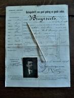 Getuigschrift Van Goed Gedrag En Goede Zeden  GEMEENTE  BERCHEM 1914 - Wetten & Decreten