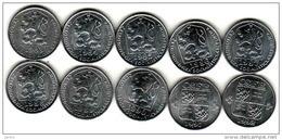Tschechoslowakei- Tchécoslovaquie 10 Different 10 Halier, Haler 1983, 1984, 1985, 1986, 1987, 1988, 1989, 1990 1991 1992 - Tchécoslovaquie