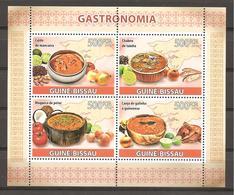 GUINEA-BISSAU - 2009 Gatronomia (caldo De Mancarra, Chabeu De Tainha, Moqueca De Peixe, Canja De Galinha) BF Nuovo** MNH - Alimentazione
