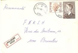 Belgique - Lettre Recommandée MEIX-DEVANT VIRTON - 1982 - Province De Luxembourg - Cob 879/1962 - Lettres & Documents