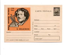ROUMANIE 1963 ENTIER CARTE REPIQUE NEUF PEINTURE DELACROIX - Art