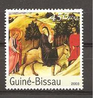 GUINEA-BISSAU - 2003 SANO DI PIETRO Fuga In Egitto (musei Vaticani) Nuovo** MNH - Religion