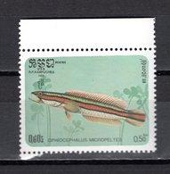 KAMPUCHEA N° 598  NEUF SANS CHARNIERE COTE 0.35€  POISSON ANIMAUX - Kampuchea