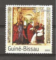 GUINEA-BISSAU - 2003 MELOZZO DA FORLI' Papa Sisto IV Nomina B. Sacchi Prefetto Biblioteca Vat. (musei Vaticani) Nuovo** - Religión
