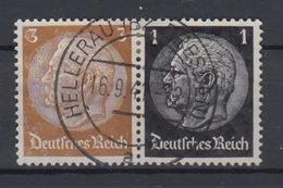 Dt. Reich Zusammendruck W 77 Hindenburg Mi.Nr. 513/512  3 Pf + 1 Pf Gestempelt - Se-Tenant