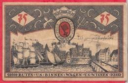 Allemagne 1 Notgeld De 75 Pfenning Stadt Bremen (RARE) Dans L 'état  N °2703 - [ 3] 1918-1933 : République De Weimar