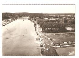 CPA 77 SAMOREAU Vallée De La Seine, La Plage Et Le Pont De VALVINS Vue Aérienne - France