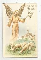 Cp , Anges ,heureuses PÂQUES , écrite - Angels
