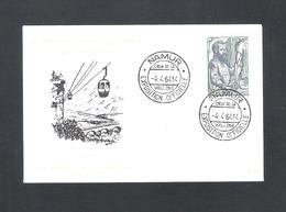 NAMUR - IVe EXPOSITION OFFICIELLE DE NAMUR - COEUR DE LA WALLONIE -  DD  4 - 4 - 1964   - OMSLAG  (D 033) - Cartas Commemorativas
