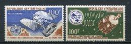 10586 REPUBLIQUE CENTRAFRICAINE PA 30,  32 ** 5ème Journée Météoroligique Mondiale Et U.I.T   1965  TTB - Repubblica Centroafricana