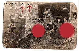 Agriculture Battage à WY Hameau De  SOY Commune D' EREZEE Vers 1920  Superbe Carte Photo - Erezée