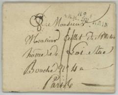 ARMEE DU RHIN / LàC 1809 De Vienne Pour Paris . Berranger Capitaine Des Grenadiers De La Garde Impériale . Essling . - Marcofilia (sobres)
