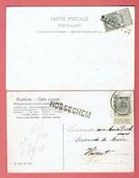2 CP - Griffes Nosseghem Et Baerle-duc - Zaventem
