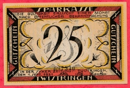 Allemagne 1 Notgeld De 25 Pfenning Stadt Twistringen  Dans L 'état  N °2724 - Collections