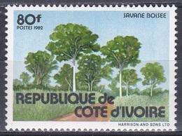 Elfenbeinküste Ivory Coast Cote D'Ivoire 1982 Natur Nature Wald Forest Savanne Savannah Bäume Trees, Mi. 765 ** - Côte D'Ivoire (1960-...)