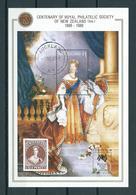 1988 New Zealand Complete M/Sheet Queen Victoria,Sydpex Print Used/gebruikt/oblitere - Blokken & Velletjes