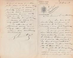 Courrier 1908 / Entête Officiers Garnison Lyon / Signé Souchon - Army & War